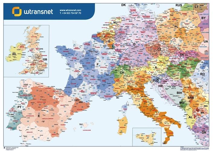 Europe Postal Codes Wransnet